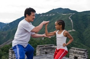 """Jackie Chan as """"Mr. Han"""" and Jaden Smith as """"Dre Parker"""" in Columbia Pictures' THE KARATE KID."""