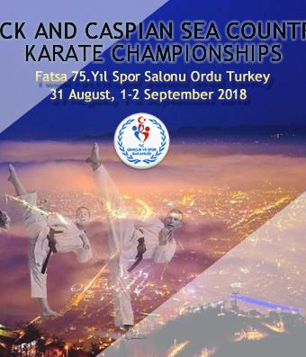 Karadeniz Ve Hazar Ülkeleri Karate Şampiyonası 31 Ağustos 2 Eylül 2018 Tarihlerinde OrduFatsa Da Düzenlenecektir.