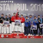 Karate 1 A Serisi'nde 4 altın, 2 Gümüş, 3 Bronz Madalya
