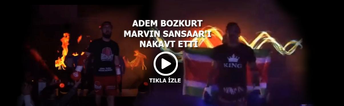 Adem Bozkurt, rakibi Marvin Sansaar'ı nakavt etti.