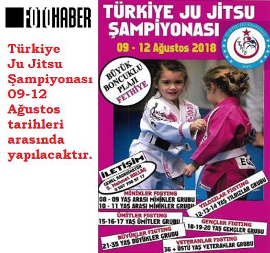 Türkiye Ju Jitsu Şampiyonası 09-12 Ağustos tarihleri arasında Fethiye'de yapılacak