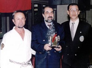 Sensei Naci Özsoy, Shihan Yenel Karahan, Shihan Minamide birarada.