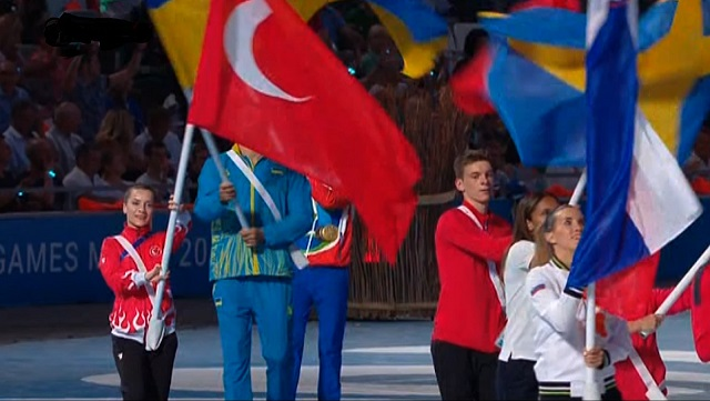 2019 Avrupa Oyunları'nda Türk Bayrağını Serap Özçelik Arapoğlu Taşıdı
