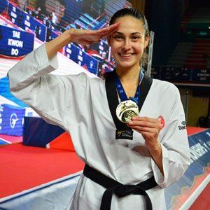 Milli taekwondocu İrem Yaman altın madalya kazandı