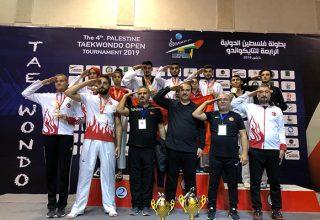Filistin Açık Taekwondo Turnuvası'nda 5'i Altın, 3 gümüş Toplam 8 Madalya