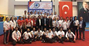 2. İşitme Engelliler Avrupa Karate Şampiyonası'nda 2 altın, 3 gümüş ve 12 bronz madalya