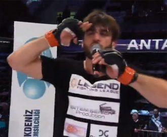 Yusuf Karakaya MMA Mücadelesinde Rakibi Ali Damak'ı İlk Rauntta Pes Ettirdi
