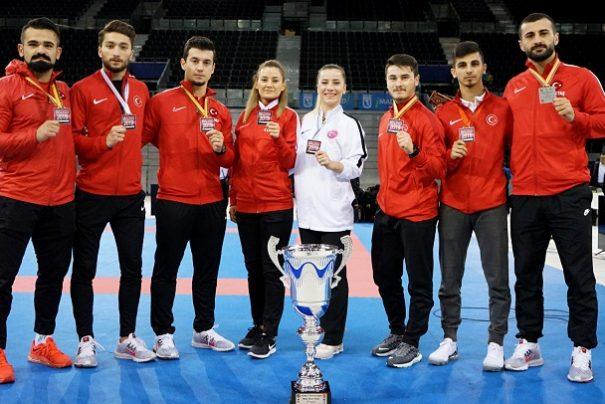 Karate 1 Premier Lig'in Madrid Etabında 2 altın, 4 Gümüş ve 1 Bronz Madalya…