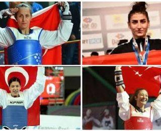 Taekwondo'nun Olimpiyat Sultanları: Rukiye Yıldırım, Hatice Kübra İlgün, Nur Tatar, Nafia Kuş